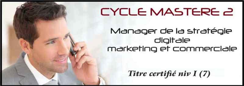 Etudiant en master marketing digital à IDELCA au téléphone
